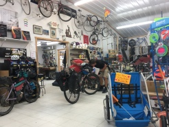 "The ""bike shop""."
